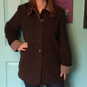 Doubleface Wool Blend Coat